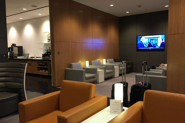 More seating at the Cathay Pacific Business Class Lounge SFO