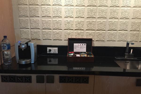Coffee machine and tea provisions