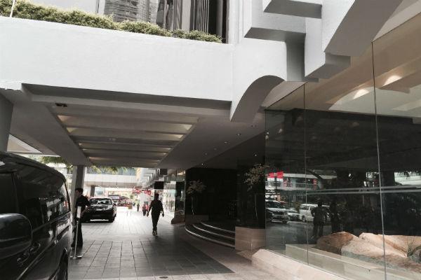 Grand Hyatt Singapore Entrance