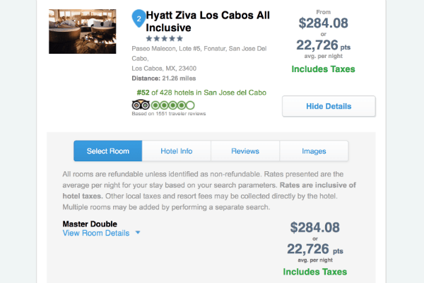 Ultimate Rewards Travel Hyatt Ziva Los Cabos Cheap Rates