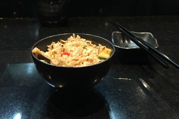 Fried Rice at Dozo Japanese Restaurant Hyatt Ziva Los Cabos