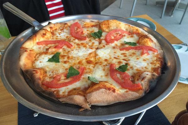 Margarita Pizza at Zaffiro Italian Restaurant Hyatt Ziva Los Cabos
