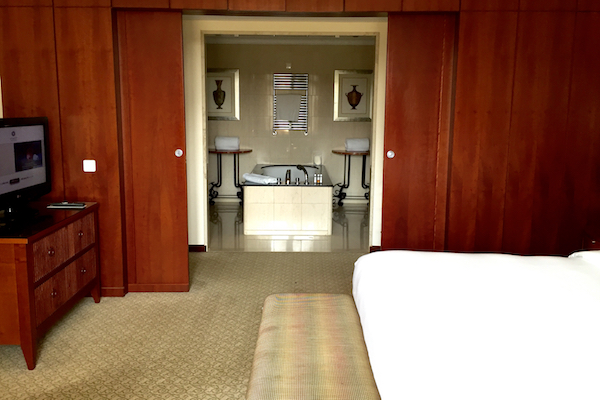 Hyatt Thessaloniki Executive Suite Bedroom and Bathroom
