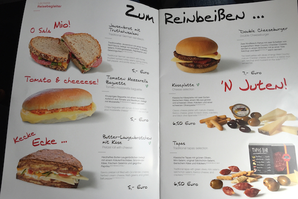 Airberlin Economy Class Meal Menu Munich to Thessaloniki