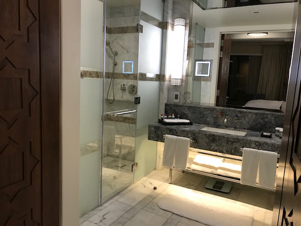 Conrad Makkah Hotel Review Haram View Suite Bathroom