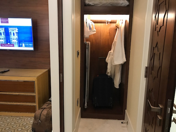 Conrad Makkah Hotel Review Haram View Suite Storage