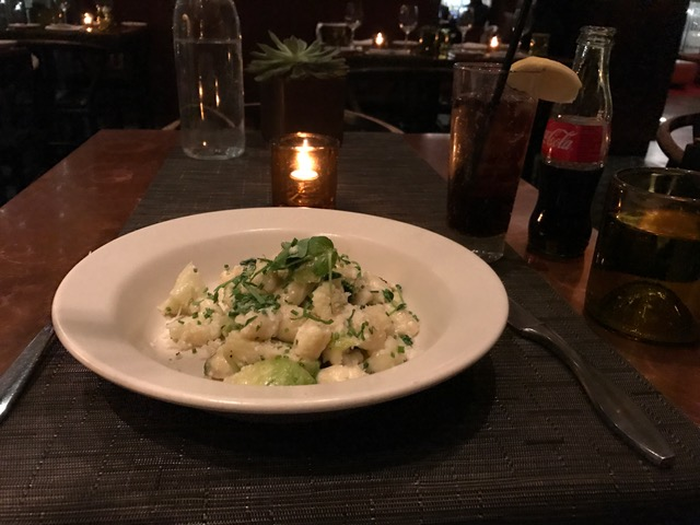 Goat Cheese Gnocchi at Print Restaurant Kimpton Ink48