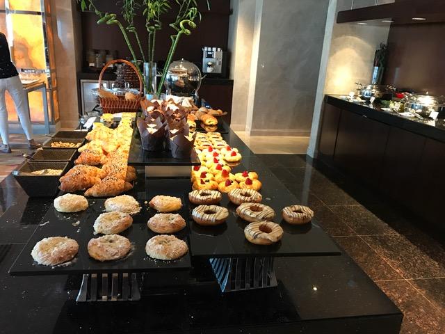 Conrad Dubai Executive Lounge Breakfast Pastries