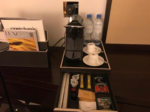 Conrad Dubai Nespresso Machine in the Deluxe Room