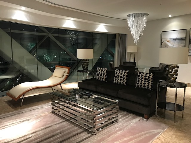 Hyatt Capital Gate Abu Dhabi Executive Suite Living Room