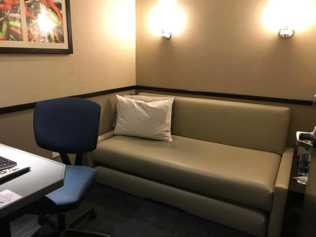 Minute Suites Room Interior at Dallas Fort Worth Airport