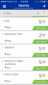 United MileagePlus X App Merchant List.