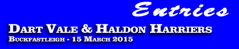 Dart Vale & Haldon Harriers Point-To-Point entries and form, Buckfastleigh, 15 March 2015