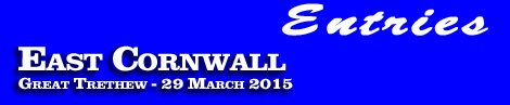 East Cornwall (2) Point-To-Point entries and form, Great Trethew, 29 March 2015