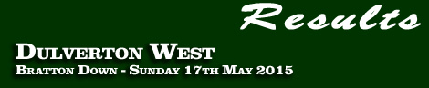 RESULTS: DULVERTON WEST POINT-TO-POINT AND PONY RACES– BRATTON DOWN – 17th MAY 2015