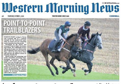 Western Morning News - Point-To-Point trailblazers