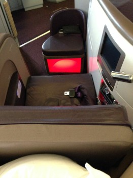 Virgin Atlantic Upper Class Flight07