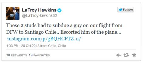 Hawkins Tweet
