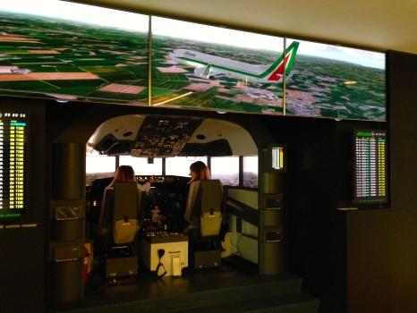 Alitalia T1 Lounge FCO Rome18