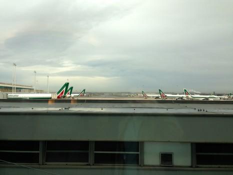 Alitalia T1 Lounge FCO Rome22