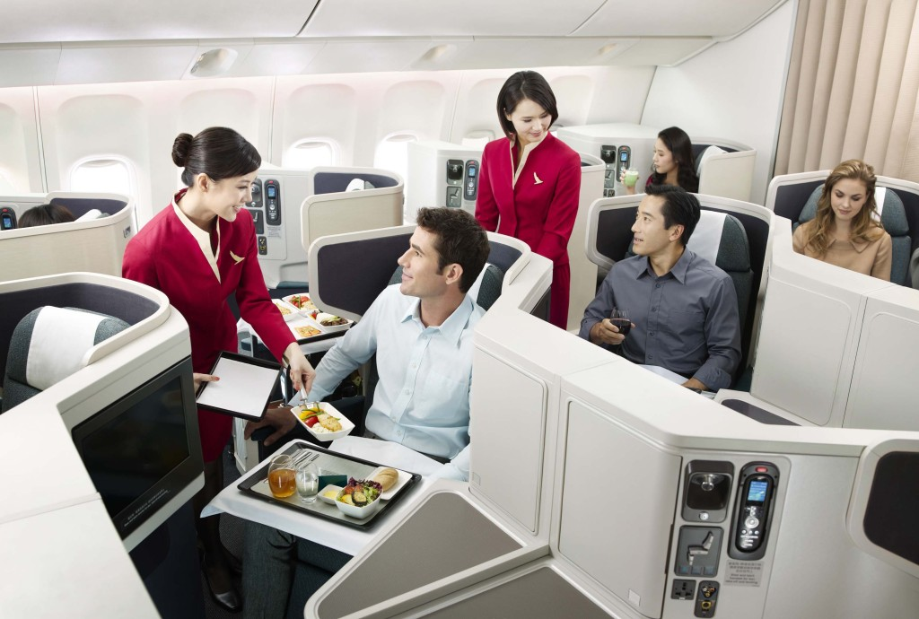 Cathay Pacific Business Class onboard the Boeing 777-300ER