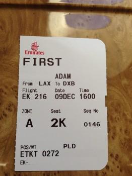 Emirates First Class A38011