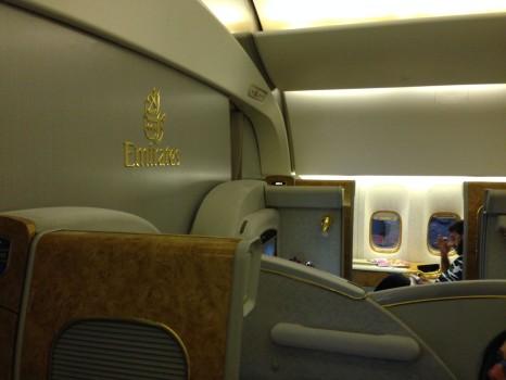Emirates First Class DXB - Malé (MLE) B777-200LR05