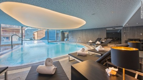 W Verbier Indoor Pool Swiss Alps