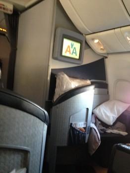 AA 777-300ER First Class Tokyo NRT DFW JFK80