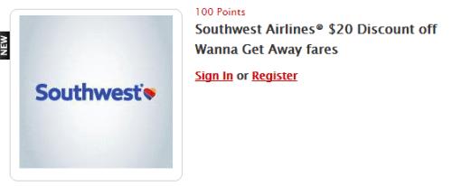 Southwest Airlines My Coke Rewards Certificate