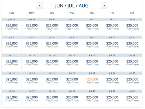 Delta Award Availability June-July-August