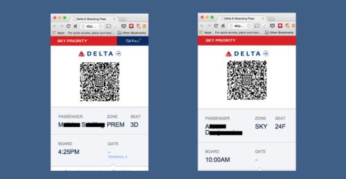 Delta e-Boarding Pass