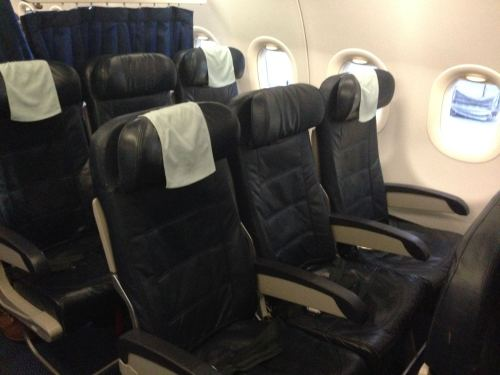 British Airways Club Europe (Business) LHR-NCE A319 03