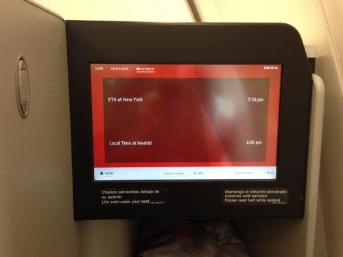 Iberia Flight Review A330-300 Business Class33