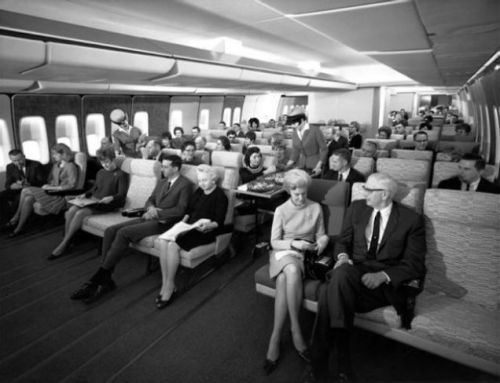 Pan Am 747 1960s BW