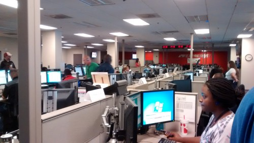 One side of the Operations Center