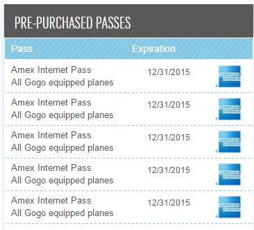 AMEX GoGo Passes