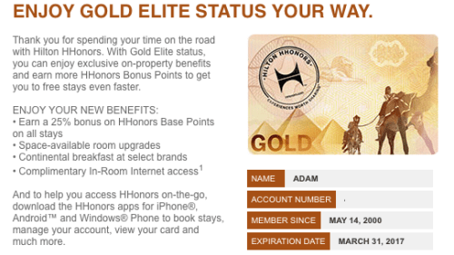 AMEX Hilton Gold