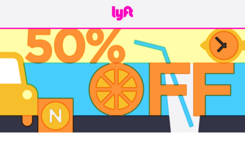 Lyft 50 Percent Off