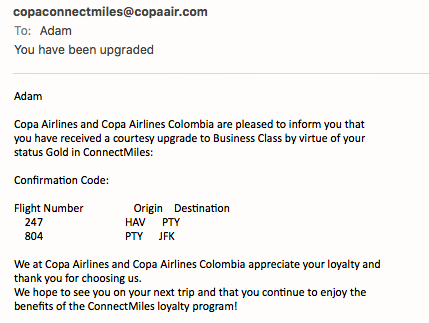 Trip Report - Copa Airlines In First To Havana, Cuba! Upgrades