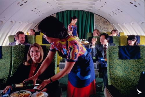 Upper Deck of a Cathay Pacific 747, circa 1980