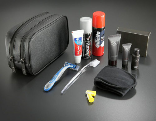 Current Qantas First Class A380 Men's Amenity Kit