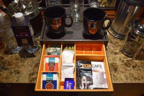 Conrad Bangkok Executive Twin Corner Room - Coffee & Tea Supplies