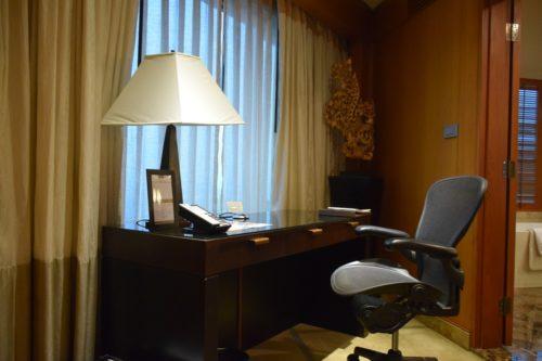 Conrad Bangkok Executive Twin Corner Room - Work Desk and Herman Miller Chair
