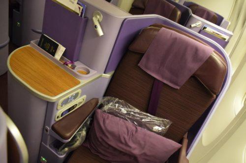 Thai Airways 777 Business Class Seat