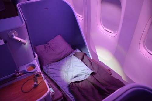 Thai Airways 777 Business Class Bed