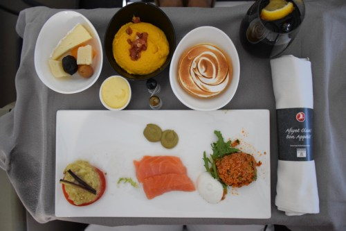 """Turkish Airlines """"Old"""" Business Class - DO&CO Catering"""