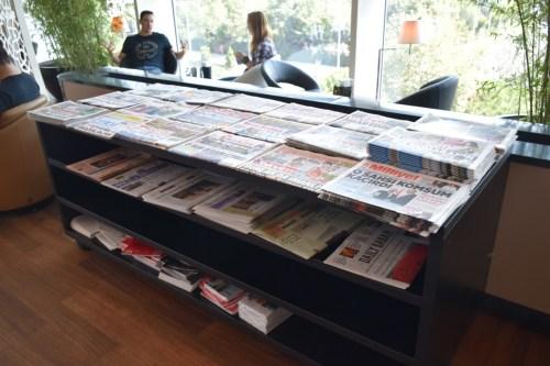 Turkish Airlines CIP Lounge - Newspaper