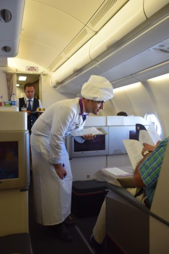 Turkish Airlines Business Class A330 - Onboard Chef