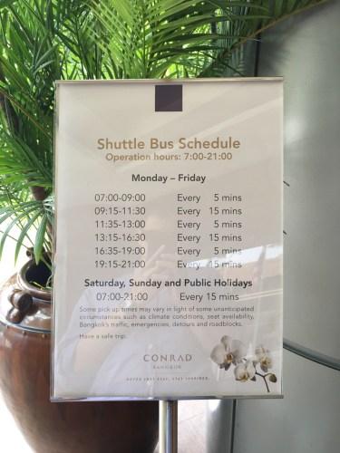 Conrad Bangkok Shuttle